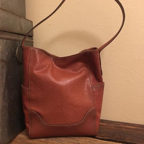 327a871ac4 Frye Side Pocket Tote Purse Shoulder Bag Bucket
